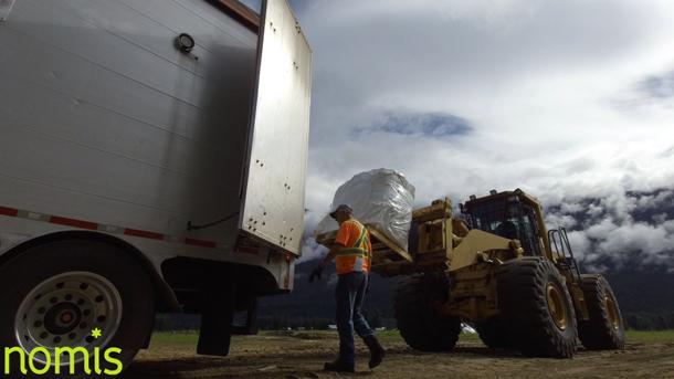 NOMIS Unloading Organic Soil